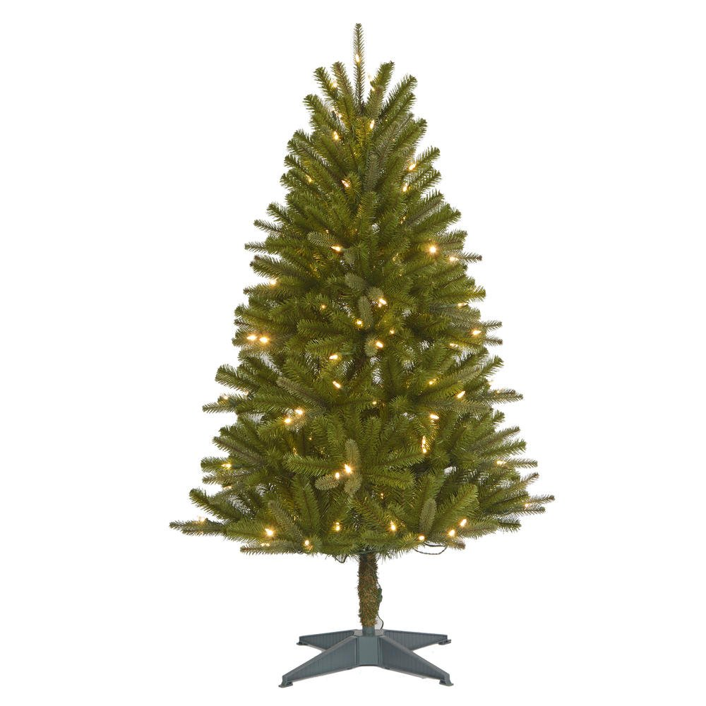 Color Switch Plus 4.5' Regal Fir Pre-lit Christmas Tree with 150 Dual Colored LED Lights