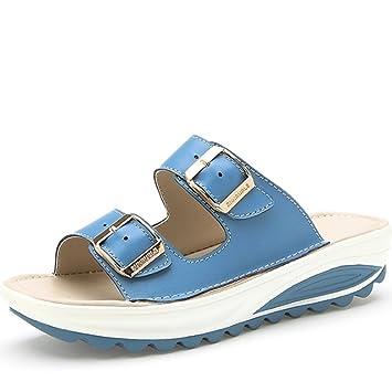 Sommer Outdoor Outdoor Pantoffeln Schuhe dicke Sandalen Anti-Rutsch mit flachen Boden Pantoffeln (4 Farben optional...