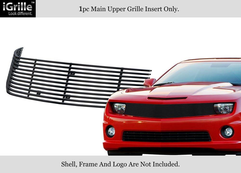 APS Compatible with 2010-2013 Chevy Camaro LT LS V6 Lower Bumper Aluminum Chrome Horizontal Billet Grille Insert S18-A42766C