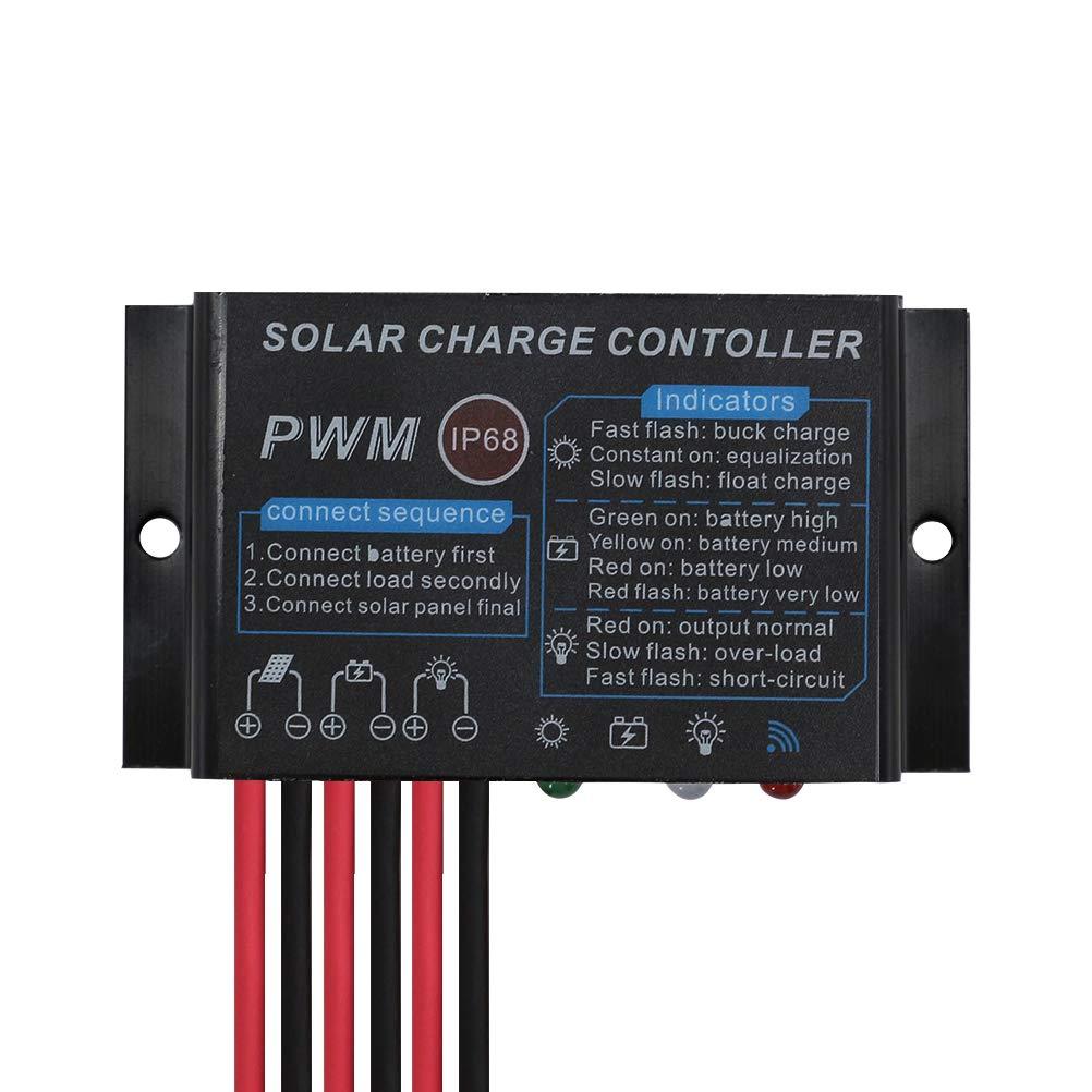 PowMr Solar Charge Controller Waterproof - 10A Charge Controller 12V 24V Auto Load on 24Hours IP68 Waterproof Solar Controller for Lead-Acid Battery (CMP-03 10A) by PowMr