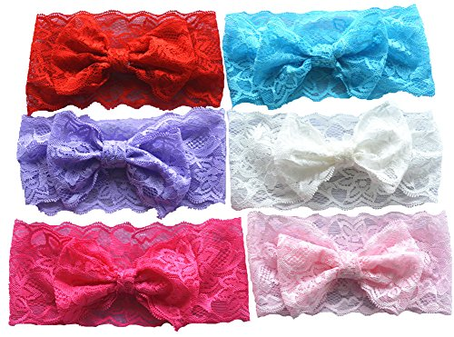 Qandsweet Baby Girl Soft Hairbands