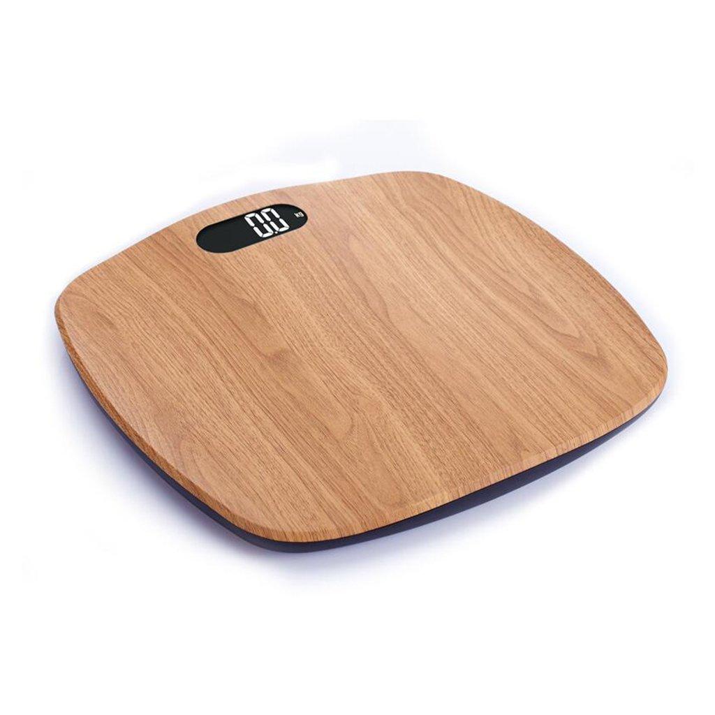 Tablero de madera de Brown GUOYUN que modela balanzas electrónicas exactas Balanza de la salud Escala del cuerpo Moderno simple interior al aire libre ...