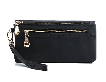 fdc902de88c49 DNFC Geldbörse Damen Portemonnaie Lang Portmonee PU Leder Geldbeutel Groß  Elegant Clutch Handtasche Geldtasche mit Reißverschluss