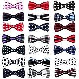TATGB New School Boys Kids Children Baby Bow Wedding Plaid Dot Tie Necktie 21 PC