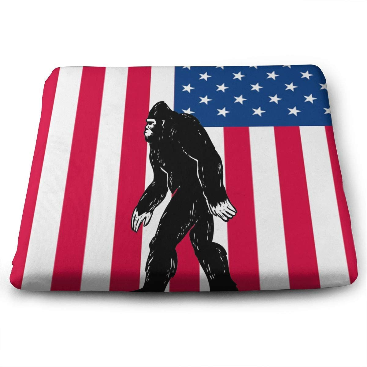 Bigfoot America Flag,Home Office Decoration Square Seat Chair Pad Fashion Seat Cushion