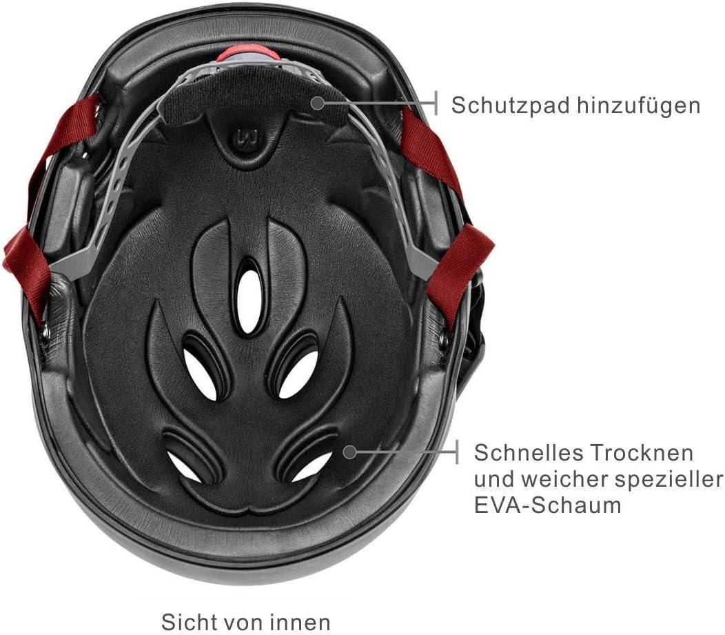 Tontron 2.0 Magnetise Schnalle Wakeboard Kajak Wassersporthelm mit Abnehmbare Ohrschutz