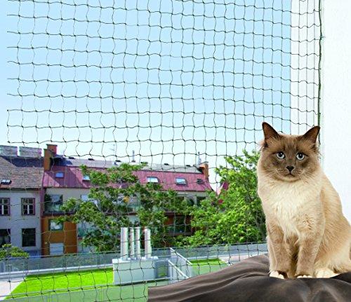TRIXIE Red protección, con Hilo Metálico, 6 x 3 m, Oliva-Verde, Gato