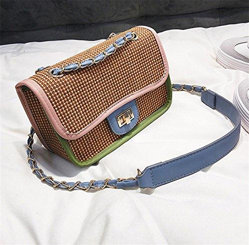 BAO Bolso de mujer de las mujeres Bolso diagonal Bolso de hombro Bolso de mano Personalidad de la tendencia Bolso de fiesta pequeño de la manera Simple, brown brown