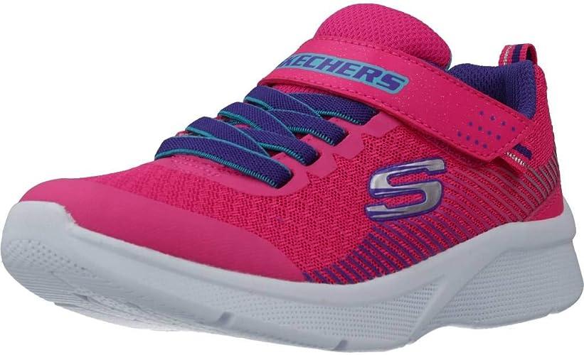 Skechers Mädchen Microspec Sneaker, Schwarz: iw0cF