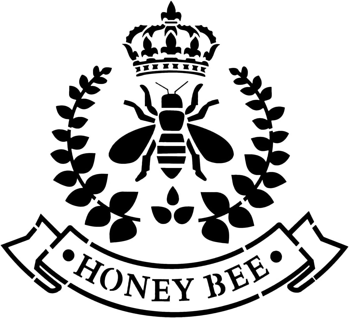 Laurel Wreath Crown Honey Bee,Reusable Plastic Stencil Template for Painting on Wood and Walls Furniture Crafts BUSOHA French Bee Stencil