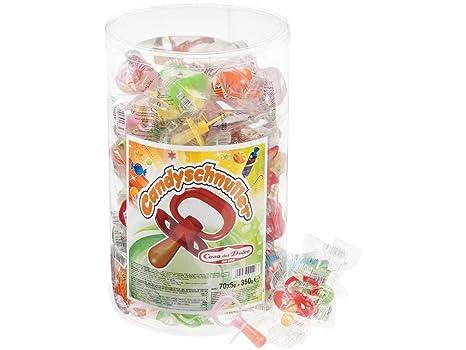 Chupete Candy 70 Piezas en Tina 350 g: Amazon.es ...