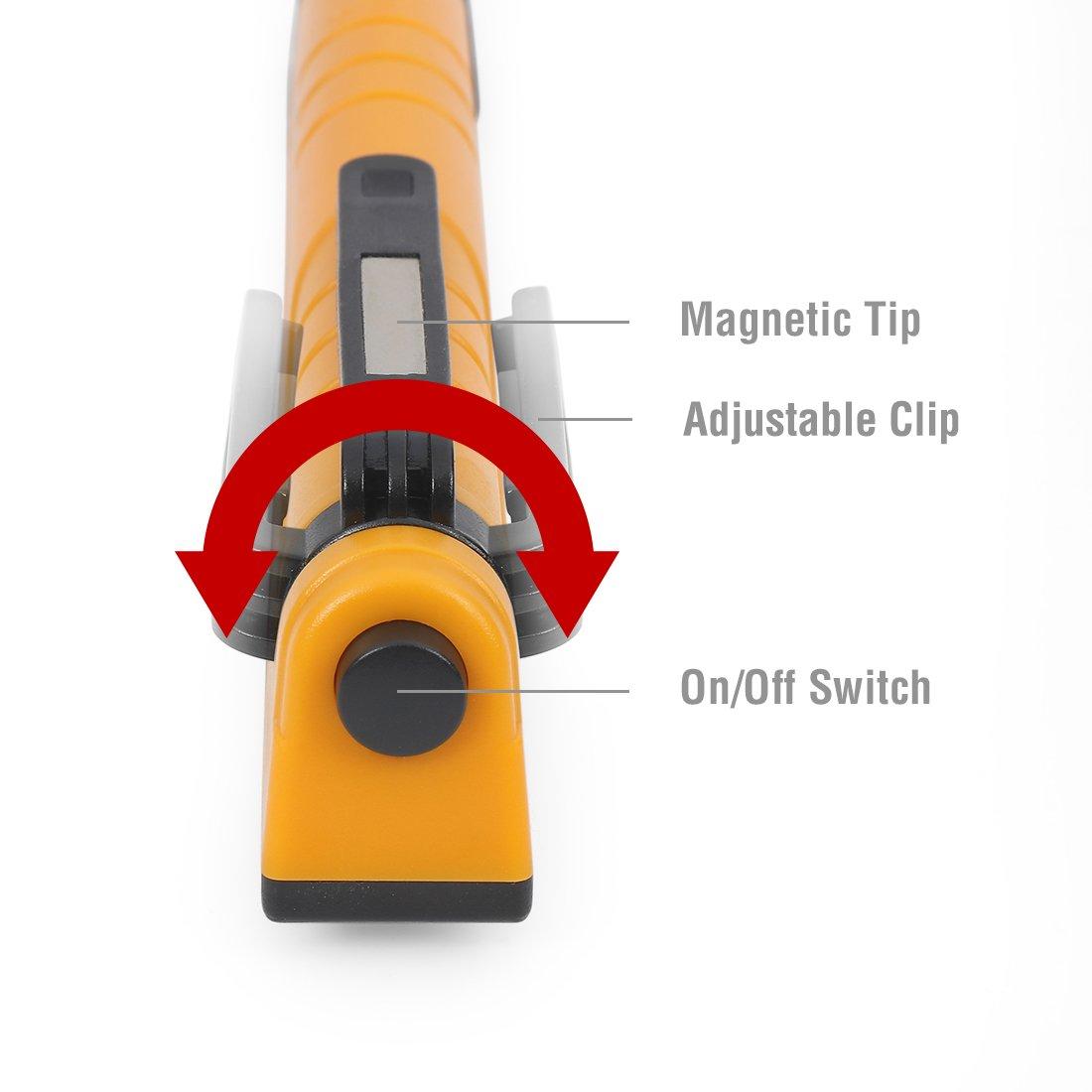 EverBrite Lámpara de Inspección LED Linterna 130 Lúmenes Luz de Trabajo con Clip Magnético 2 Piezas: Amazon.es: Bricolaje y herramientas