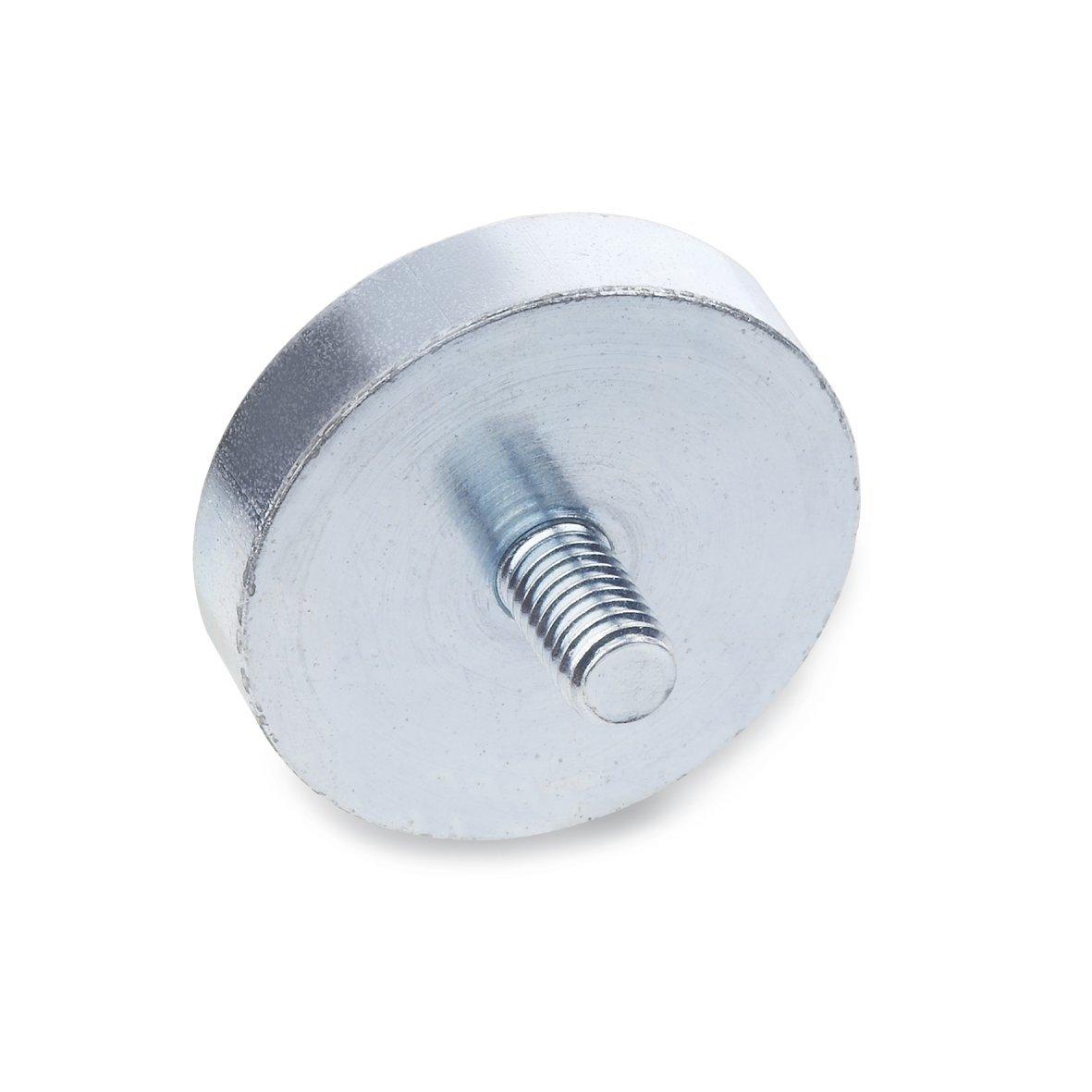 Ganter Normelemente GN 50.3-HF-32-M4 3-HF-32-M4-Haltemagnete mit Au/ßengewinde 32mm; Gewinde d2 M4 5 St/ück silber Durchmesser d1