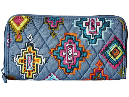 (Vera Bradley Women's RFID Georgia Wallet Painted Medallions One Size)