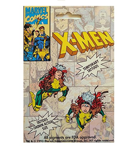 X-Men Temporary Tattoos Rogue 2 Image Transfers -