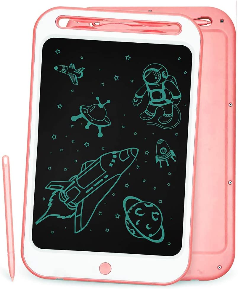 Color : Pink, Size : 12 inches Wecnday-Home Drawing Tablet Electronic Drawing Board Portable Mini Board Handwriting Tablet Drawing Board Gifts for Girls Boys