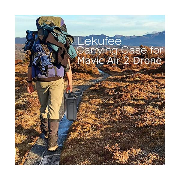 LEKUFEE Custodia da Trasporto per DJI Mavic Air 2 Drone e Accessori (Drone e Accessori Non Inclusi) 7 spesavip
