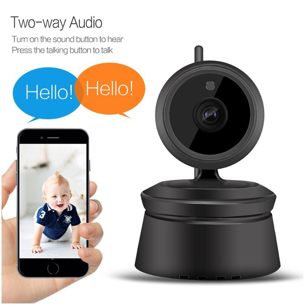 Pomiacam X1 1080P HD WiFi Camera Baby Monitor P2P Wireless Network IP Camera 2.0MP 360 Degre PTZ Home Security CCTV Surveillance Camera with IR Night Vision Two Way Audio Motion Detection