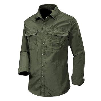 XiXia Camisas de Vestir para Hombre Camisa Formal de Manga Larga ...