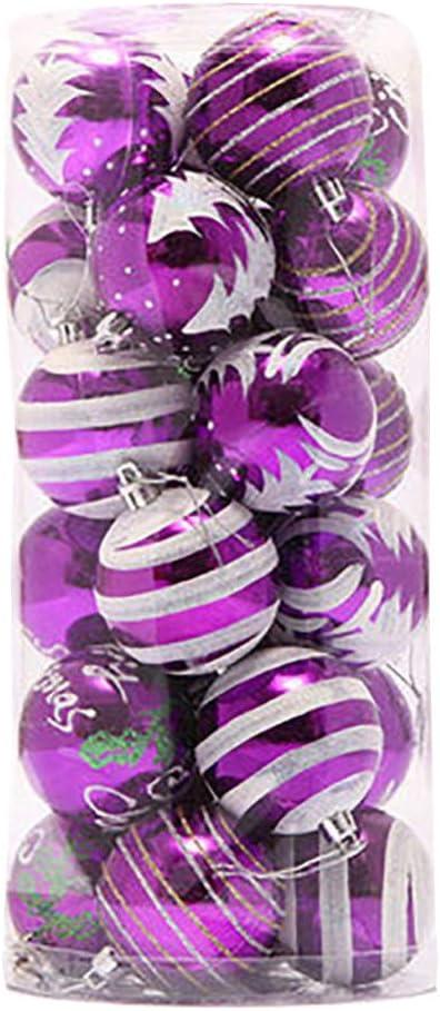 Boule de Noel Ornements Rouge Venkaite Arbre de No/ël Boules D/écorations pour No/ël Mariage F/ête D/écoration 24 // Pack, boule peinte, 2,36 inch 60 mm