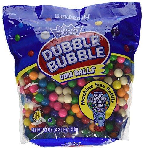 Dubble Bubble Gumball Refill, 8 Flavors, 3.3