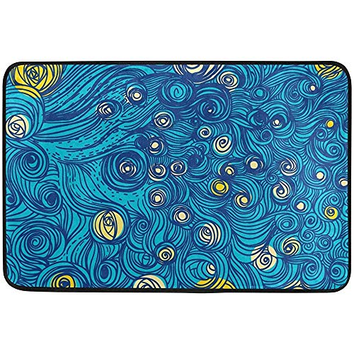 Sdfr4 Non-Slip Door Mat Home Decor, Sky Tumblr Patterns Durable Rubber Entrance Mats Rugs for Bathroom/Front Doormat, 23.6 X 15.7 inch for $<!--$15.99-->