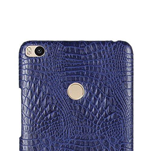 Funda Xiaomi Mi Max 2, SunFay Funda Posterior Protector de PC Carcasa Back Cover de Parachoques Piel PU Protectora de Teléfono Para Xiaomi Mi Max 2 - Blanco Purpura-azul
