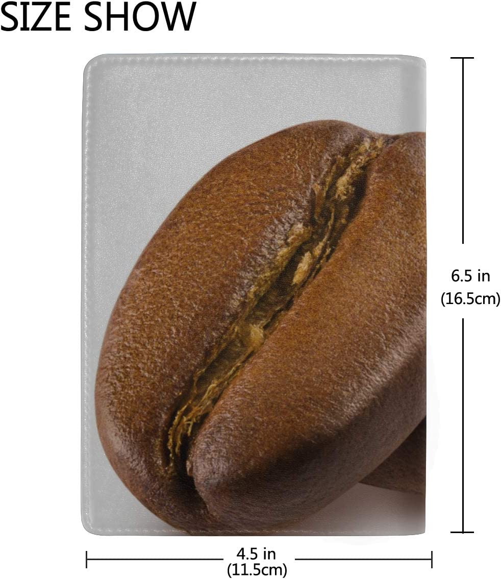 Baby Passport Cover Delicious Coffee Beans Stylish Pu Leather Travel Accessories Case For Passport For Women Men