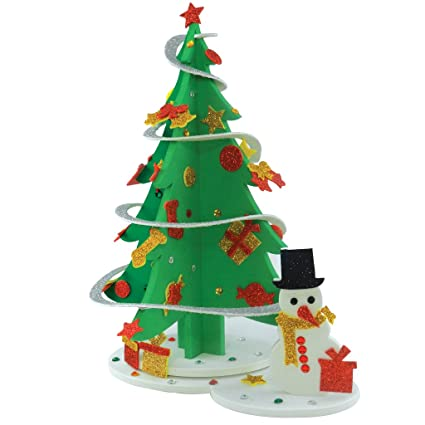 imagimake sparkling christmas tree make your own christmas tree and snowman christmas tree diy