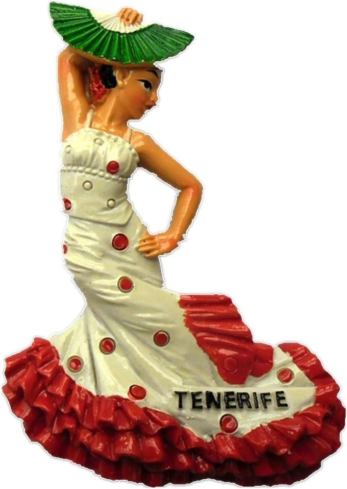 Flamenco Dancer Gypsies en Andalucía España resina 3d fuerte imán para nevera recuerdo turista regalo chino imán hecho a mano manualidades creativo hogar y cocina decoración magnética: Amazon.es: Hogar