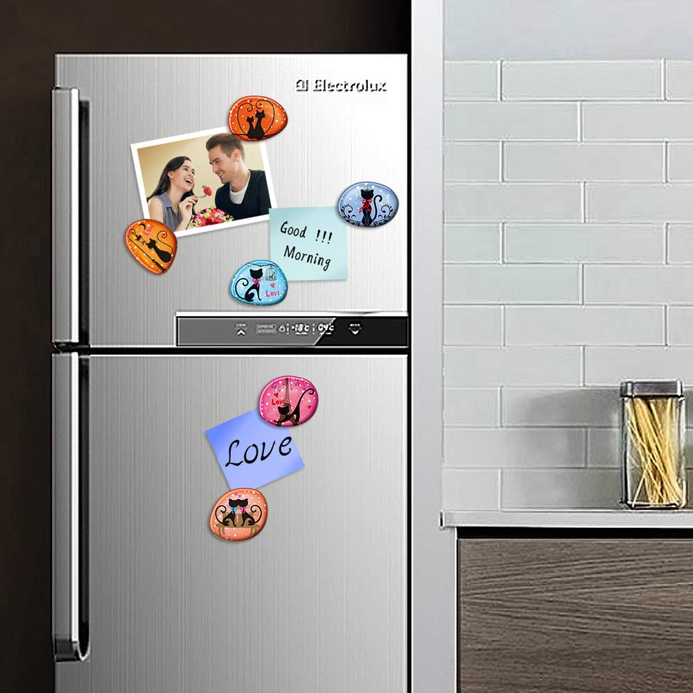 Owl Stone Refrigerator Magnets Decorative Magnets Funny Whiteboard Magnets for Kids Students and Adults