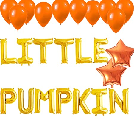 Amazon.com: Pequeños globos de calabaza, cartel de otoño de ...