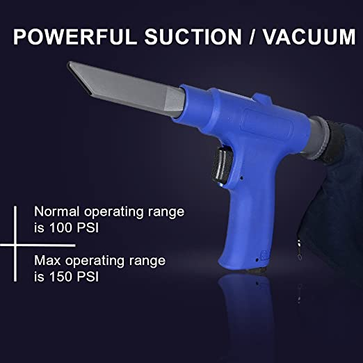 Air Vacuum Blow Gun Pneumatic Air Suction Blow Gun Kit Includes 6