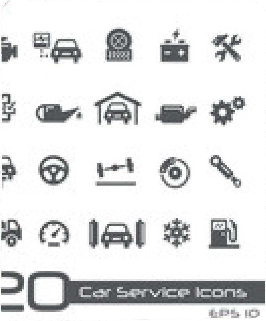 alfombrilla de ratón Iconos de servicio de coche: Amazon.es ...