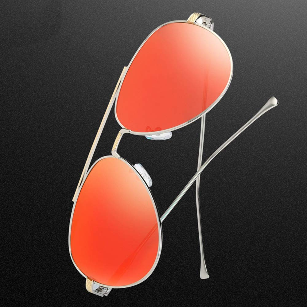Saalising Retro Al-Mg Metal Frame Polarized Driving Sunglasses Unisex Color : Black//Silver
