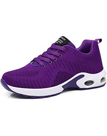 512144ee12954 Zapatillas Deportivas de Mujer Air Cordones Zapatillas de Running Fitness  Sneakers 4cm Negro Rojo Rosado Púrpura
