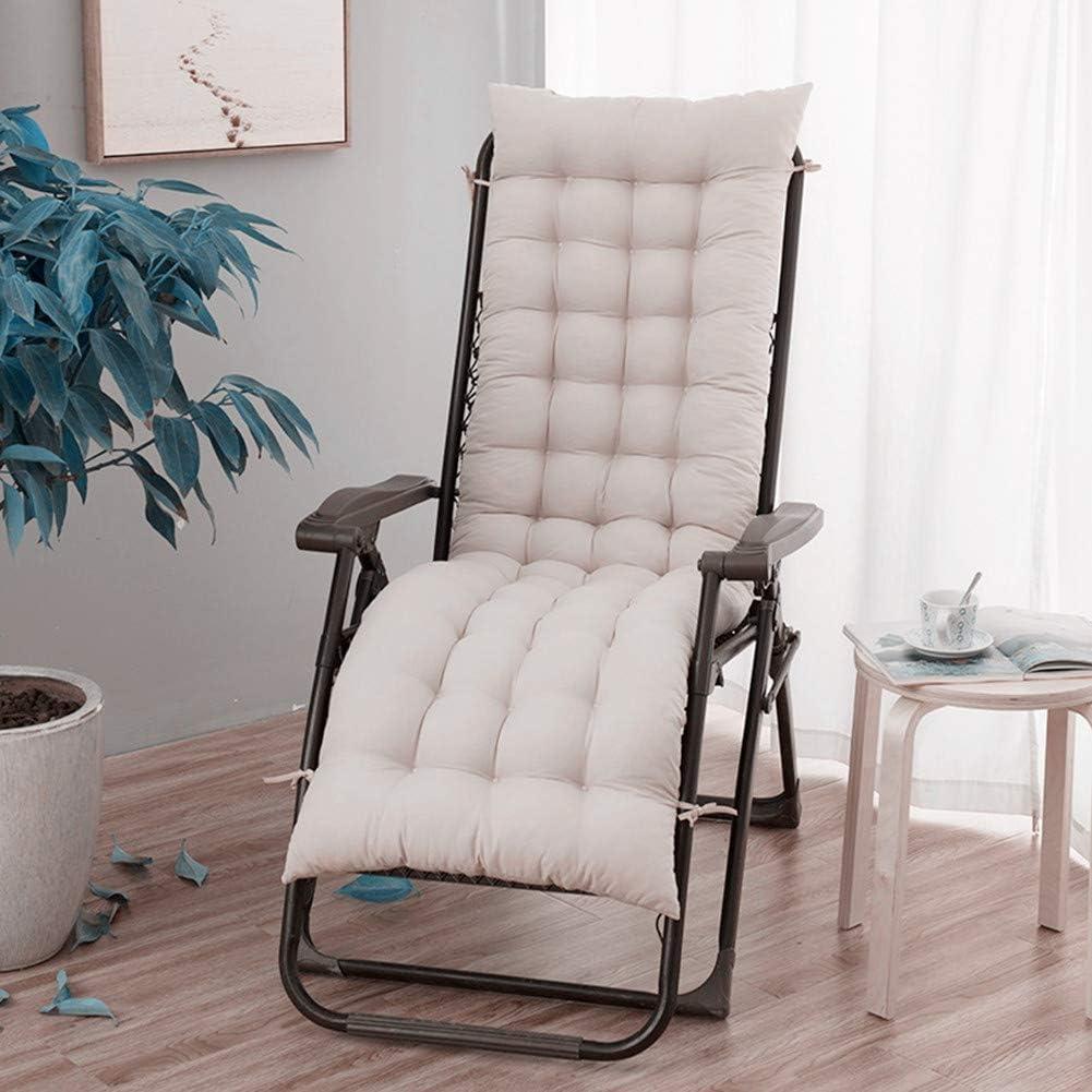 NHAO Auflagen f/ür Gartenliegen,Auflage Sonnenliege Gartenliege Einfarbig Liegenauflagen Anti-Rutsch-Design Polster Kissen Dick Liegestuhl Relaxliegenauflage,Beige,120 x 48 cm
