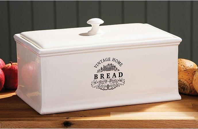 Cream Ceramic Bread Bin Vintage Home Stylish Bread Storage Bin Amazon Co Uk Kitchen Home