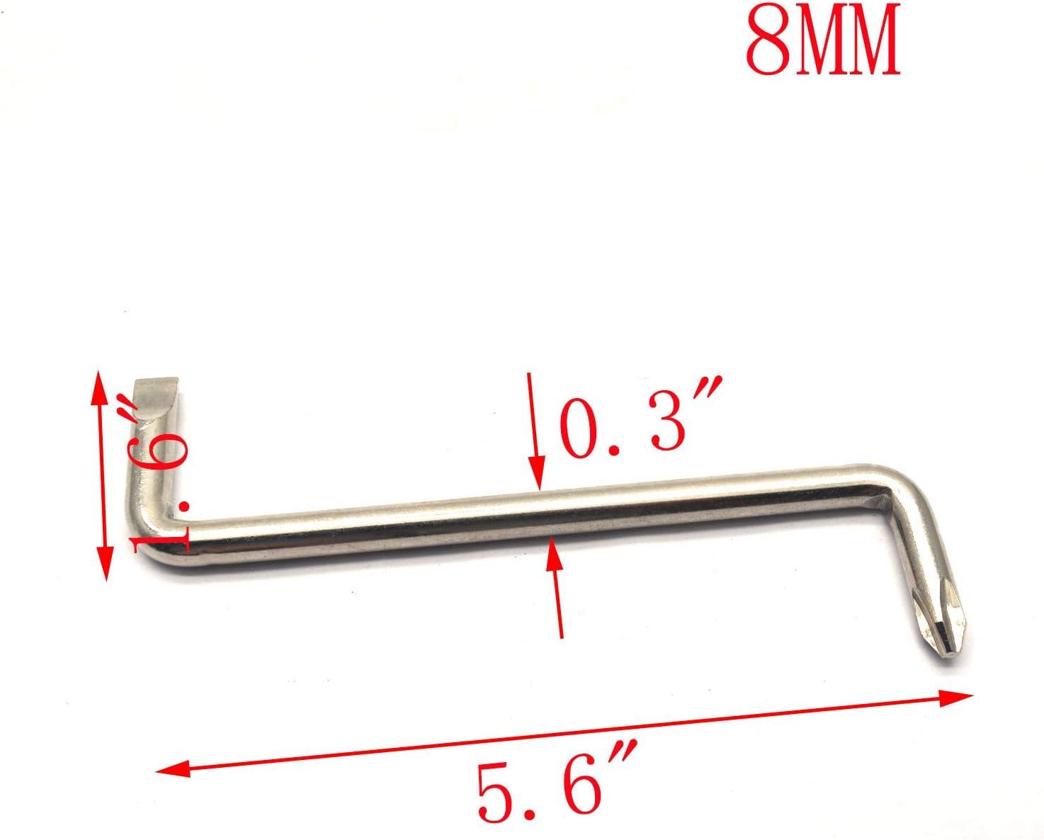 MTMTOOL Steel Short Shank Double Headed Z-type Offset Screwdriver Set Repair Tools Pack of 3