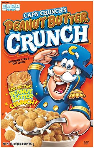 Cap'n Crunch Peanut Butter Crunch Breakfast Cereal, 17.1oz Box