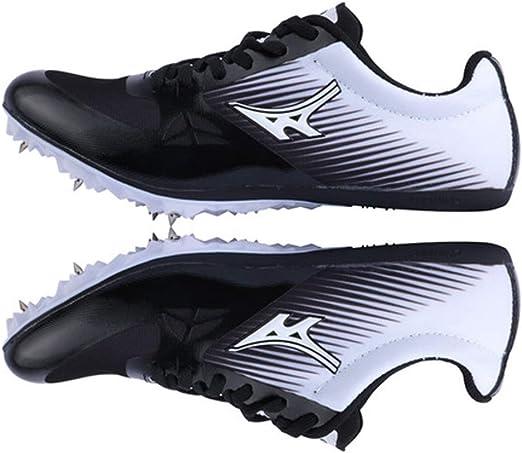 AIALTS Hombres Mujeres Atletismo Calzado, Unisex Profesional del Athletic De Spike Running Sprint Zapatos De La Pista Y Campo A Través Zapatilla De Deporte,Negro,35: Amazon.es: Hogar