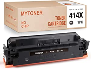 MYTONER (No Chip) Compatible Toner Cartridge Replacement for HP 414X W2020X Black High Yield Toner for Color Laserjet M454dw M454dn MFP M479fdw M479fdn Printer (Black,1-Pack)