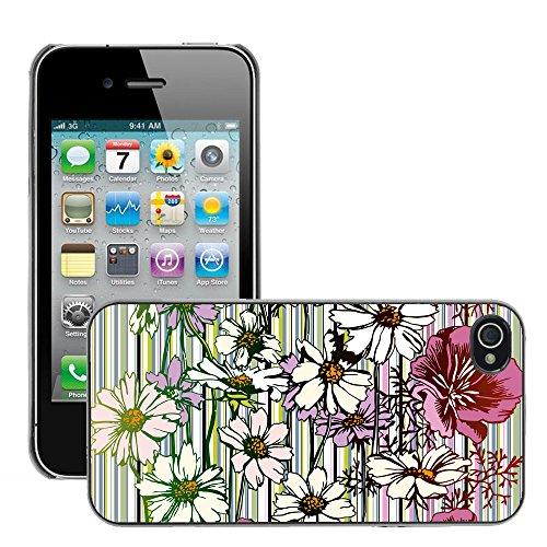 Premio Sottile Slim Cassa Custodia Case Cover Shell // V00002738 Seamless Flower // Apple iPhone 4 4S 4G