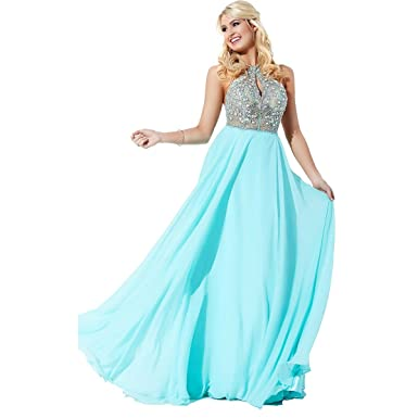 JVN by Jovani Womens Chiffon Embellished Formal Dress - Green -