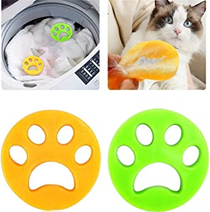 Pet Hair Remover for Laundry, Non Toxic Reusable Floating Pet Fur Collector, Dog Cat Clothes Washing Remover-2 Pcs