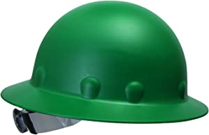 Fibre-Metal by Honeywell P1ARW74A000 Roughneck Full Brim Hard Hat with Strip-Proof and Crack-Proof Ratchet Headgear, Green