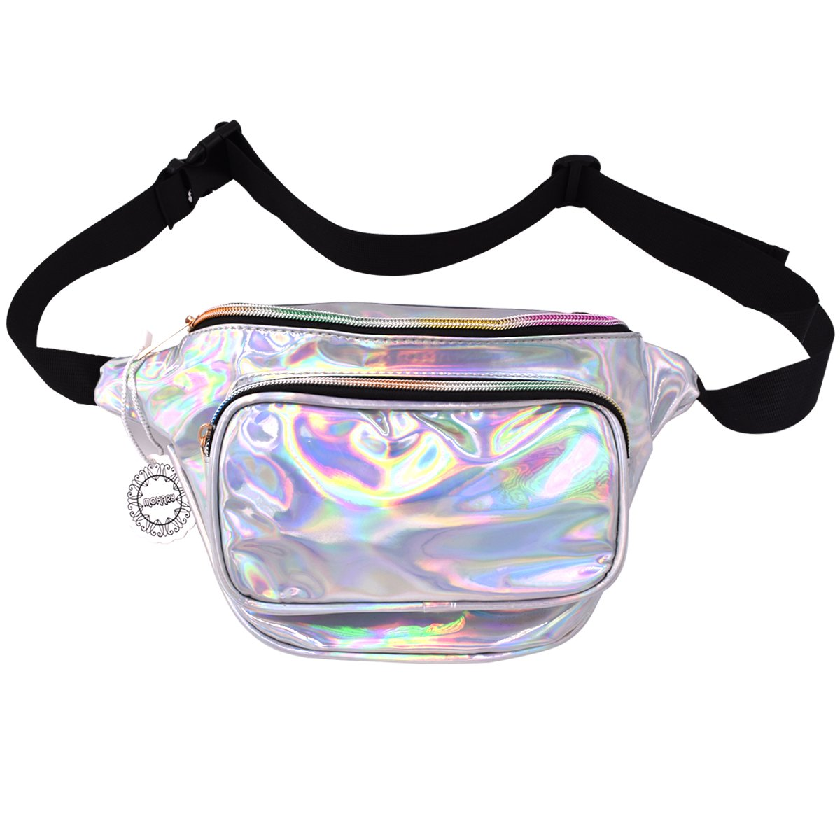 Water Resistant Shiny Neon Fanny Bag for Women Rave Festival Hologram Bum Travel Purse Waist Pack by MOHARY (Image #1)