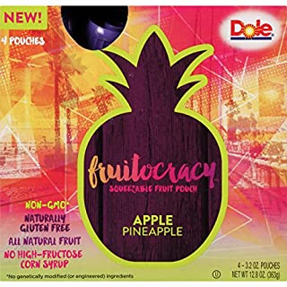 Dole Fruitocracy, Apple Pineapple, 3.2oz, 4 pouches