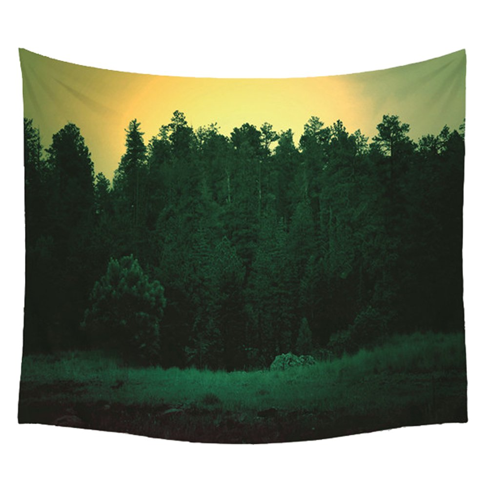 WCHUANG Tree Forest Tapestry Plant Bedspread Beach Blanket Picnic Mat Wall Decor, 150130 cm (10)