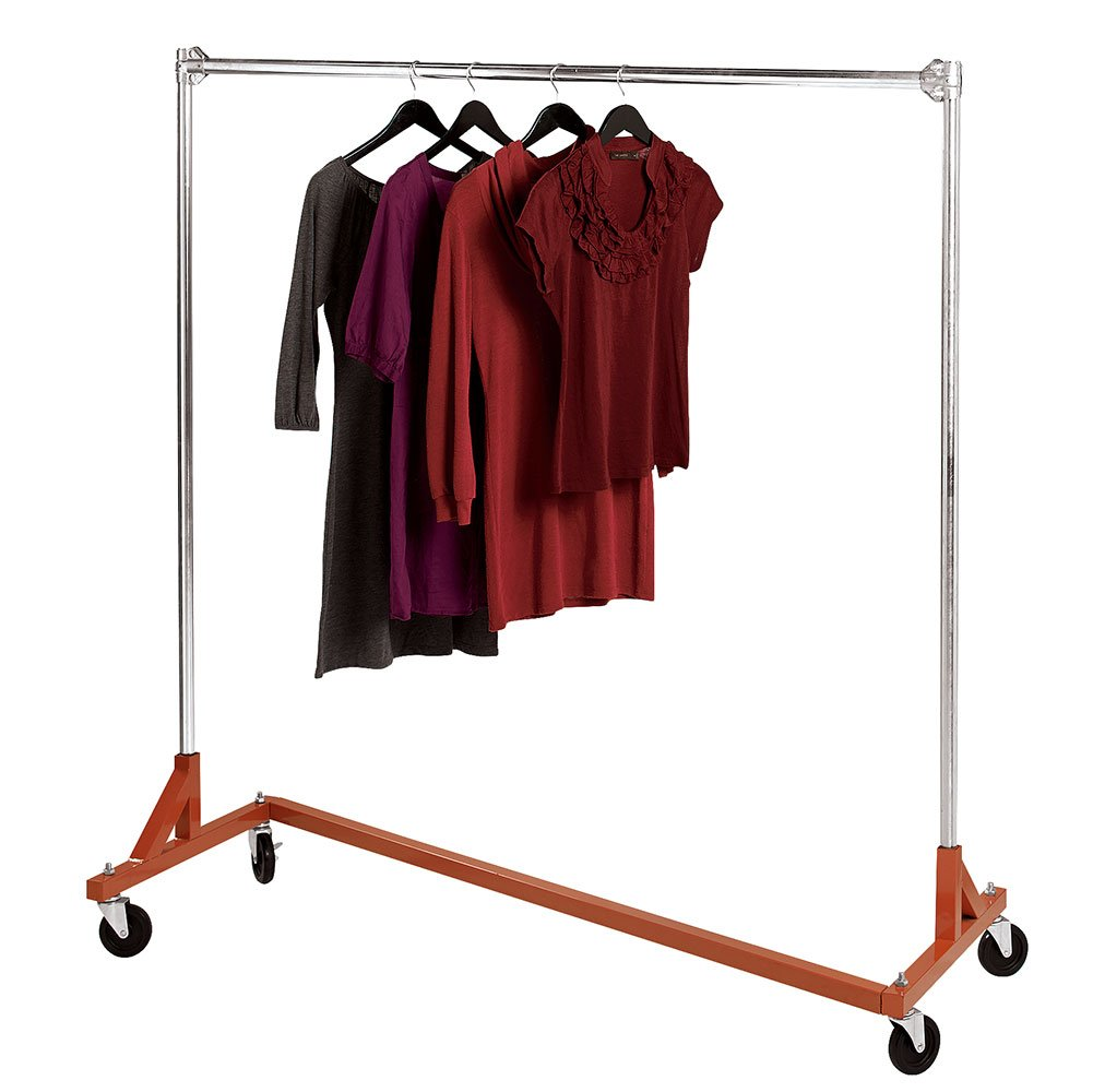 SSWBasics Heavy-Duty Single-Rail Z-Truck Clothing Rack